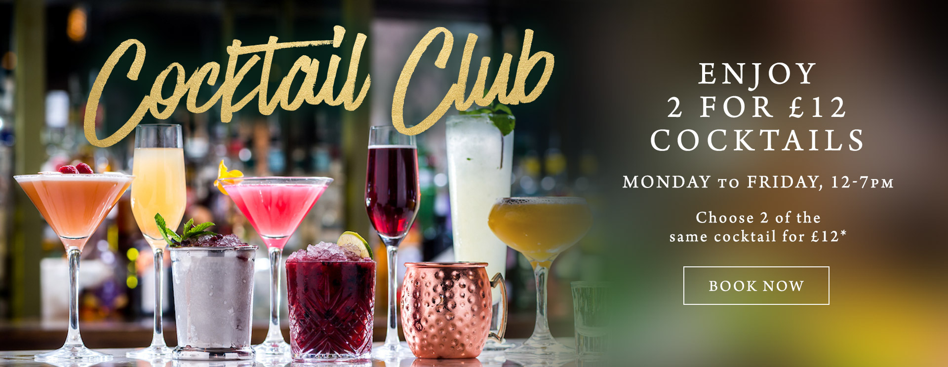 2 for £12 cocktails at The Langton